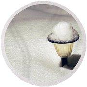 Snow Hat Round Beach Towel