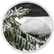 Snow Hill Round Beach Towel