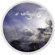 Snow Is In The Air Round Beach Towel