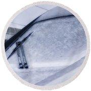 Snow On The Train Round Beach Towel