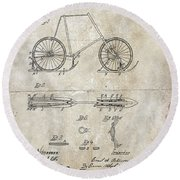 Snow Shoe Attachment For Bicycles Patent 1896 Round Beach Towel