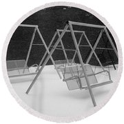 Snow Swings Round Beach Towel