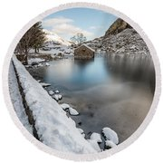 Snowcapped Round Beach Towel