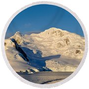 Snowcapped Mountain, Andvord Bay Round Beach Towel
