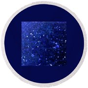 Snowlight Round Beach Towel