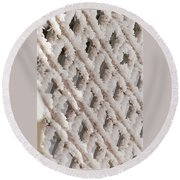 Snowy Lattice Vertical Round Beach Towel