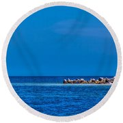 So This Is The Gulf Of Mexico Round Beach Towel