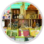 Soap Seller Round Beach Towel