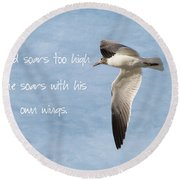Soaring High 2 Round Beach Towel
