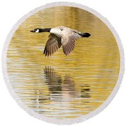 Soaring Over The River Round Beach Towel