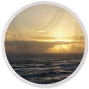Soaring Sunrise Round Beach Towel