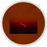 Soaring The Red Sky Round Beach Towel