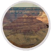 Soaring Through The Canyons Round Beach Towel