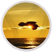 Soaring With Confidence Round Beach Towel