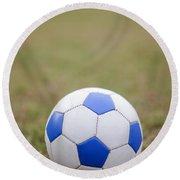 Soccer Ball Round Beach Towel