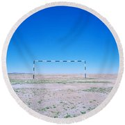 Field Of Dreams Round Beach Towel