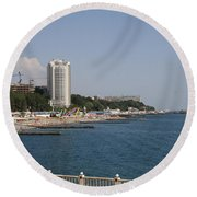 Sochi Bathing Resort At The Black Sea Round Beach Towel