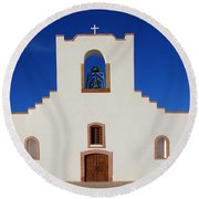 Socorro Mission La Purisima Texas Round Beach Towel
