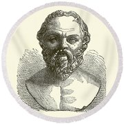 Socrates Round Beach Towel