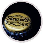 Soda - Stewarts Root Beer Round Beach Towel by Paul Ward
