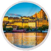 Sodermalm Skyline Round Beach Towel