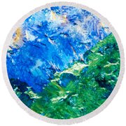 Sodium Thiosulphate Microcrystals Colorful Art Round Beach Towel