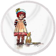 Sofie Round Beach Towel