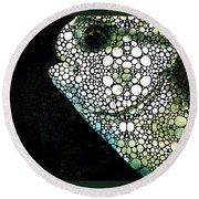 Sofishticated - Fish Art By Sharon Cummings Round Beach Towel