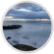 Soft And Blue Round Beach Towel
