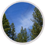 Soft And Gentle Sky Round Beach Towel