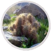 Soft And Sharp Round Beach Towel by Snake Jagger