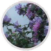 Soft Blues And Pink - Spring Blossoms Round Beach Towel