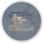 Soft Clouds Round Beach Towel