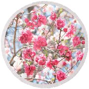 Soft Colors Of Spring Round Beach Towel