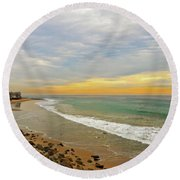 Soft Colors On The Coast Round Beach Towel by Lynn Bauer