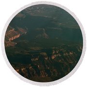 Soft Early Morning Light Over The Grand Canyon 2 Round Beach Towel