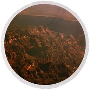 Soft Early Morning Light Over The Grand Canyon 3 Round Beach Towel
