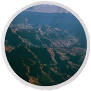 Soft Early Morning Light Over The Grand Canyon 4 Round Beach Towel