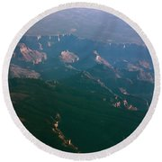 Soft Early Morning Light Over The Grand Canyon 5 Round Beach Towel