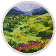 Soft Grass Round Beach Towel