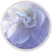 Soft Lavender Begonia Flower Round Beach Towel