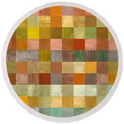 Soft Palette Rustic Wood Series Lll Round Beach Towel