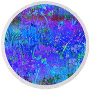 Soft Pastel Floral Abstract Round Beach Towel