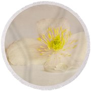 Soft Pink Flower Round Beach Towel