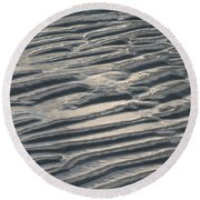 Soft Ripples Round Beach Towel