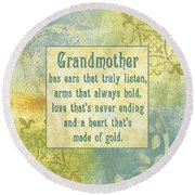 Soft Spa Mother's Day 2 Round Beach Towel