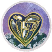 Softened Heart Best Reflections Energy Collection Round Beach Towel