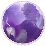 Softness Of Purple Begonias Round Beach Towel