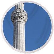 sokullu pasa camii Mosque minaret Round Beach Towel
