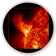 Solar Eruption Round Beach Towel